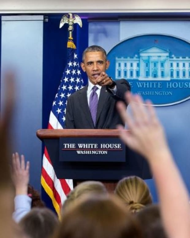 Obama Tells Trump Protesters To Speak Up Promo Image