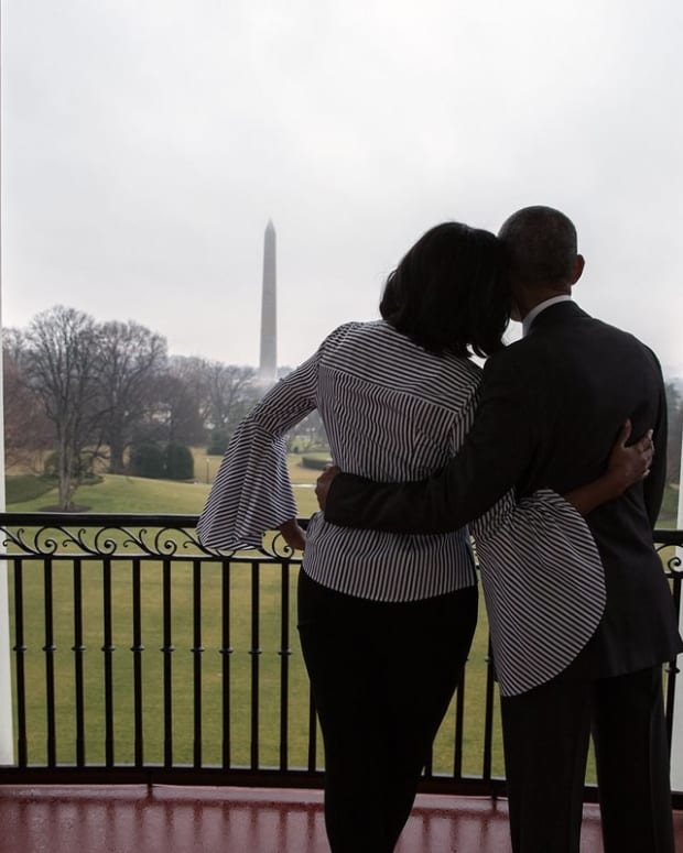 Michelle Obama Posts Last Tweet As First Lady (Video) Promo Image