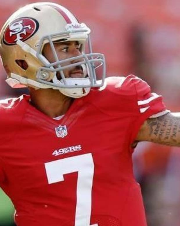 Kaepernick To Sit Out Anthem At Chargers' Military Game Promo Image