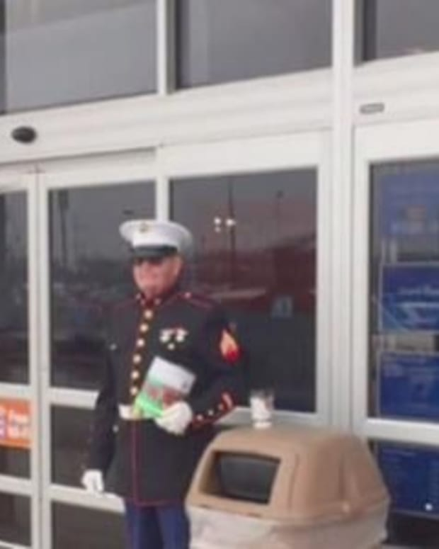 Shoppers Stunned To See How Walmart Treated Veteran (Photo) Promo Image