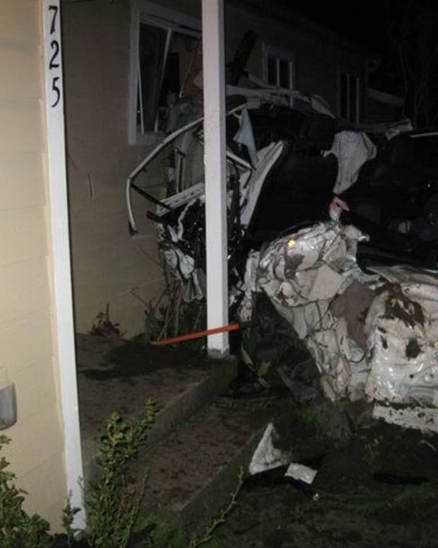 Intoxicated Man 'Showing Off' New Car Crashes Into Home (Photo) Promo Image
