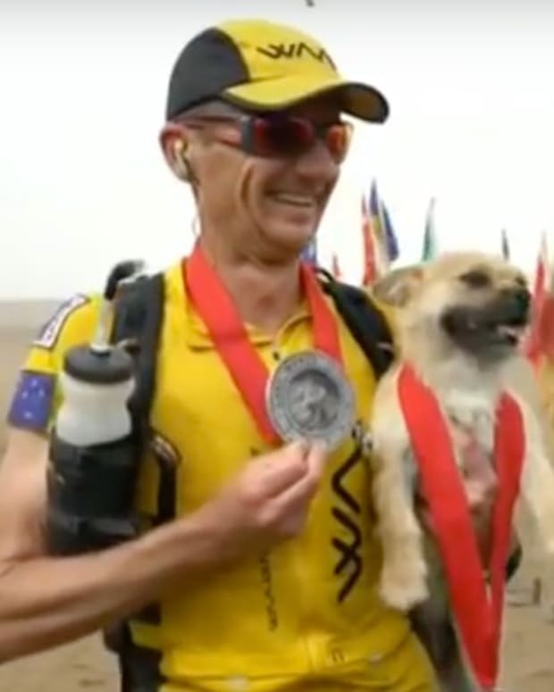 Runner To Adopt Dog That Followed Him 77 Miles (Video) Promo Image