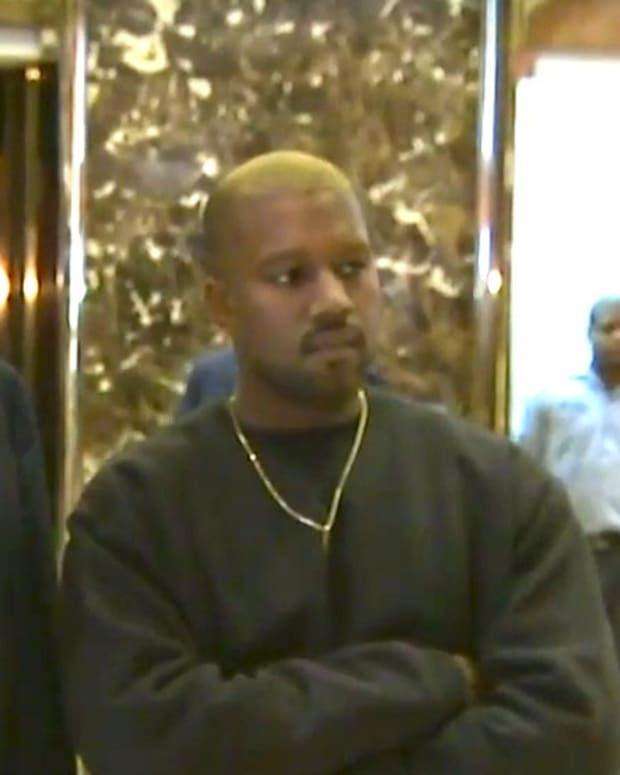 Trump Cancels News Conference, Meets Kanye West (Video) Promo Image