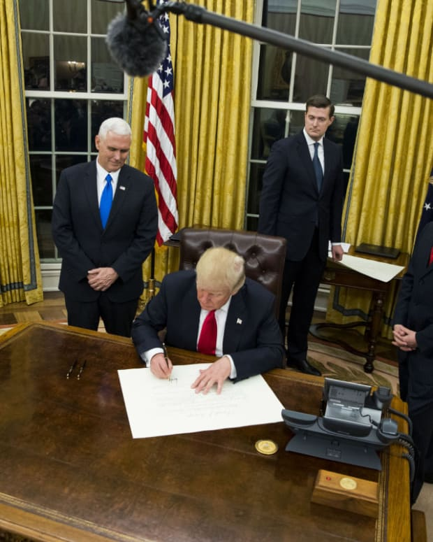 Donald Trump Personalizing Oval Office To His Taste Promo Image