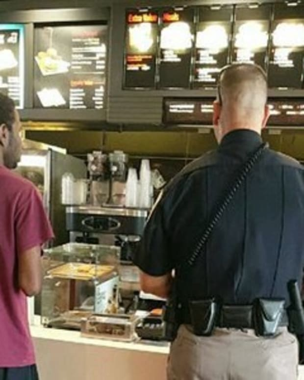 Customers At McDonald's Notice Encounter Between Black Teen And Cop, Pull Out Phones And Record It Promo Image