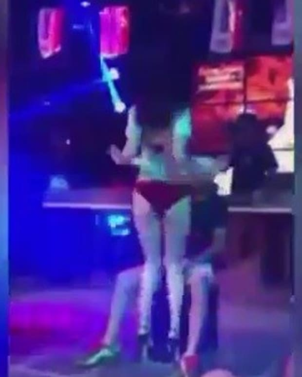 Angry Girlfriend Attacks Stripper Mid-Lapdance (Video) Promo Image