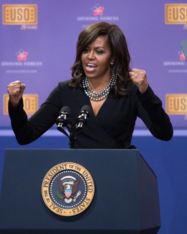Michelle Obama Bans Media From Upcoming Speech Promo Image