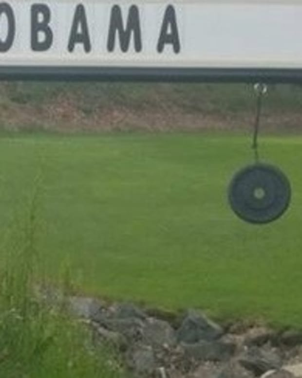 Property Owner To People Offended By His Obama Sign: It's A Joke, Get Over It (Photo) Promo Image