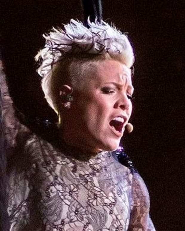 Pink Responds To Critics After National Anthem Promo Image