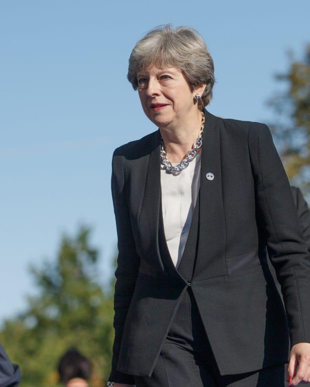 Theresa May Condemns Trump's Muslim Tweets Promo Image