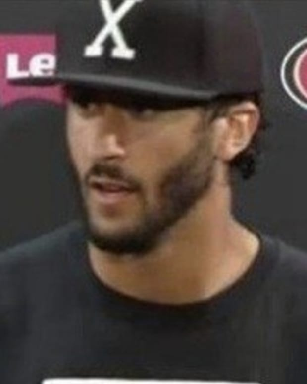 Colin Kaepernick's Shirt At Press Conference Sparks Controversy (Photo) Promo Image
