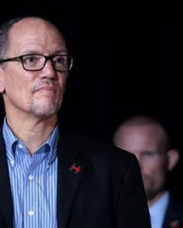 DNC Chair Perez: 'I Am Not Talking About Impeachment' Promo Image