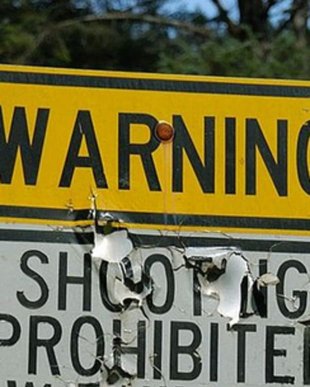 No Shooting Sign.