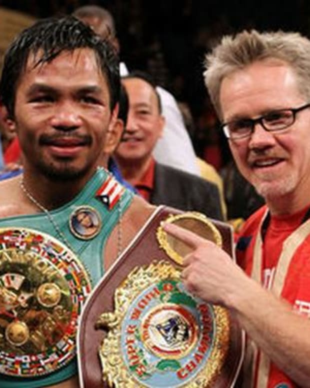 Manny Pacquiao and Freddy Roach.