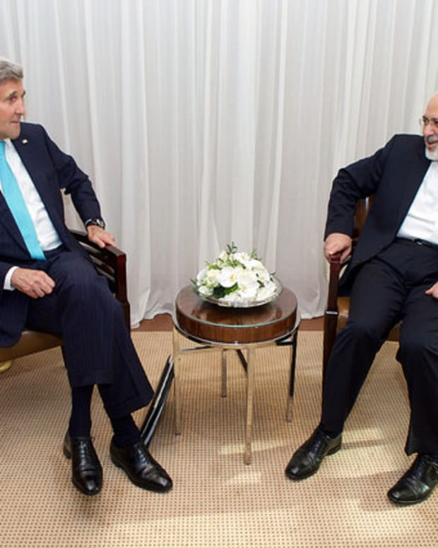 John Kerry and Mohammad Javad Zarif.