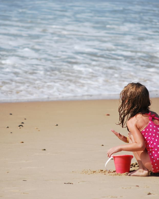 Child On Beach.
