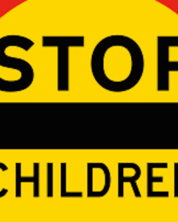 School Crossing Sign.