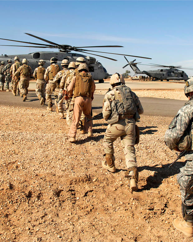 U.S. Military in Iraq.