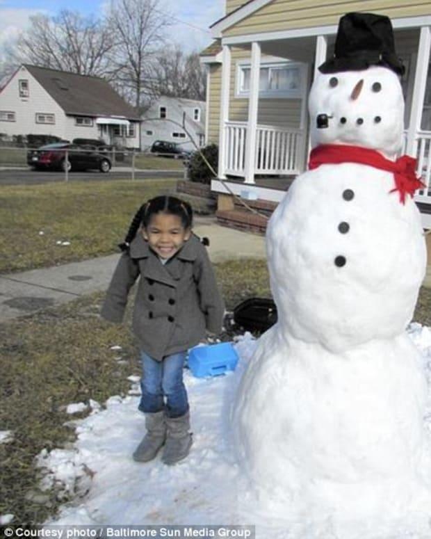 Sophia's Snowman.