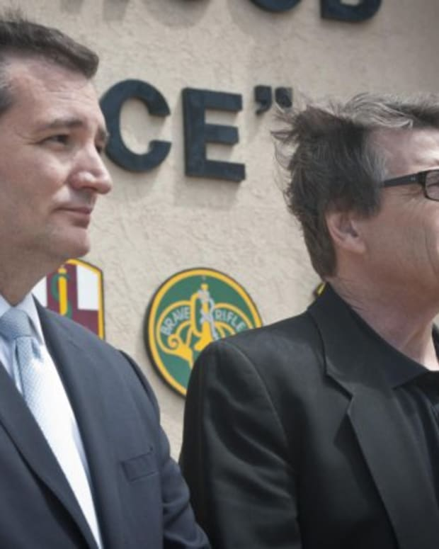 Former Texas Gov. Rick Perry and Sen. Ted Cruz.