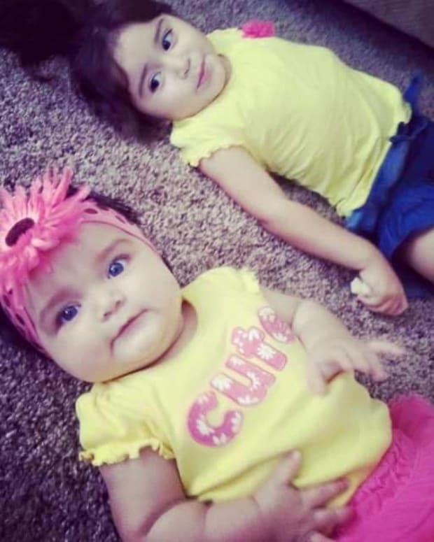 two little girls who were in the stolen car