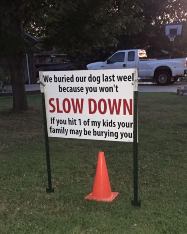 Speeding Sign.