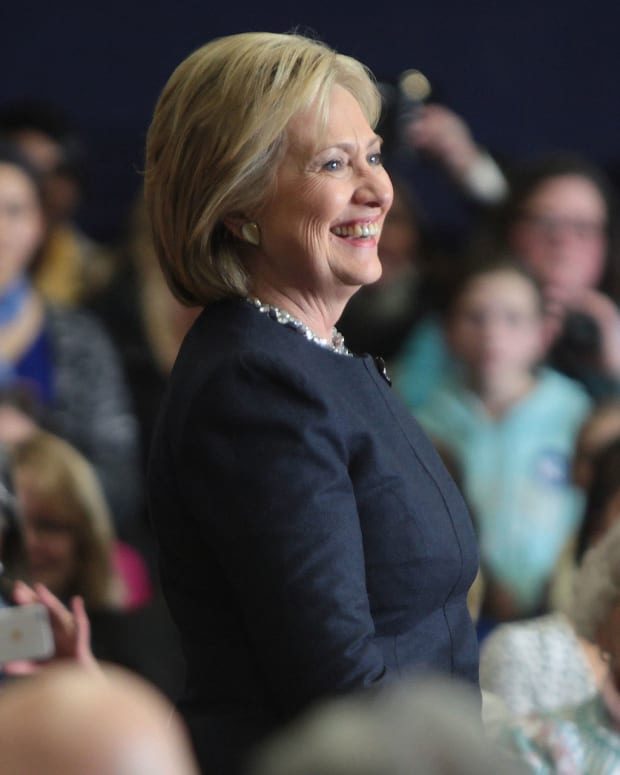Hillary Clinton at a campaign event in New Hampshire.