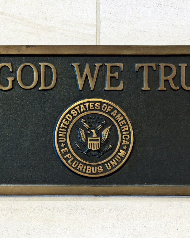 A Plaque In The U.S. Capitol.