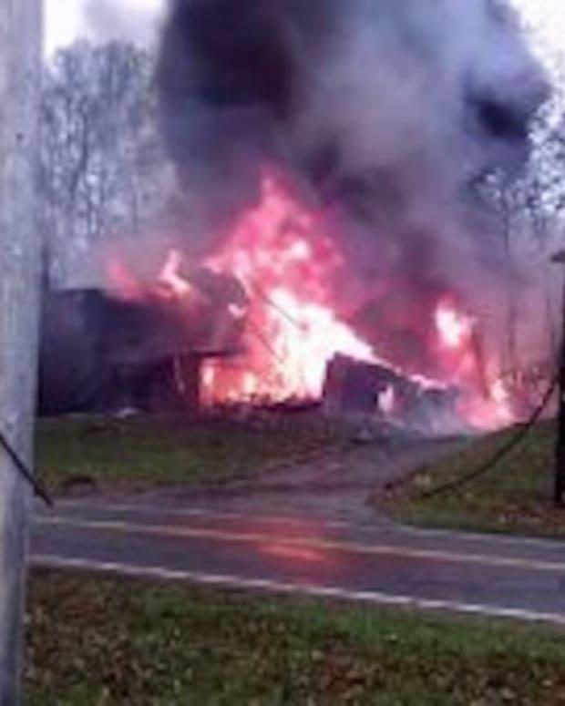 Ohio Apartment Building In Flames