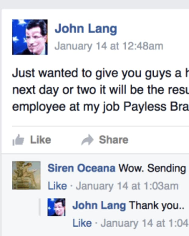 john lang's facebook post about his supposed murder