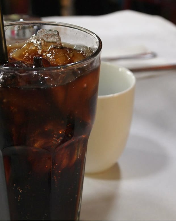 soda on restaurant table