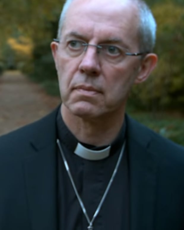 Archbishop Welby in prayer commercial