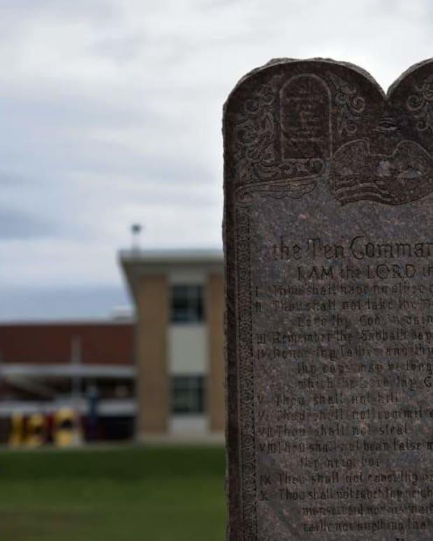Ten Commandments Monument.