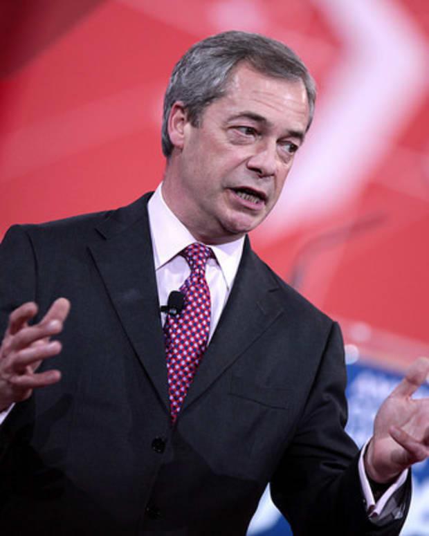 Brexit Leader Nigel Farage Hopes For A Trump Presidency Promo Image