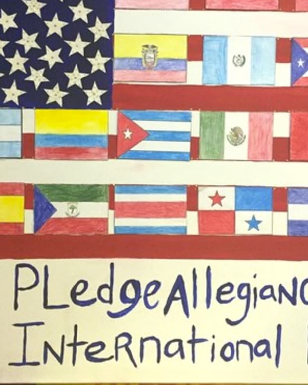 School Kids: 'Pledge Allegiance To International Flag' Promo Image