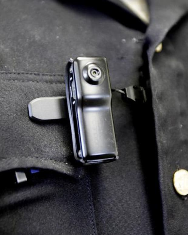 Body cameras worn by Oklahoma City police