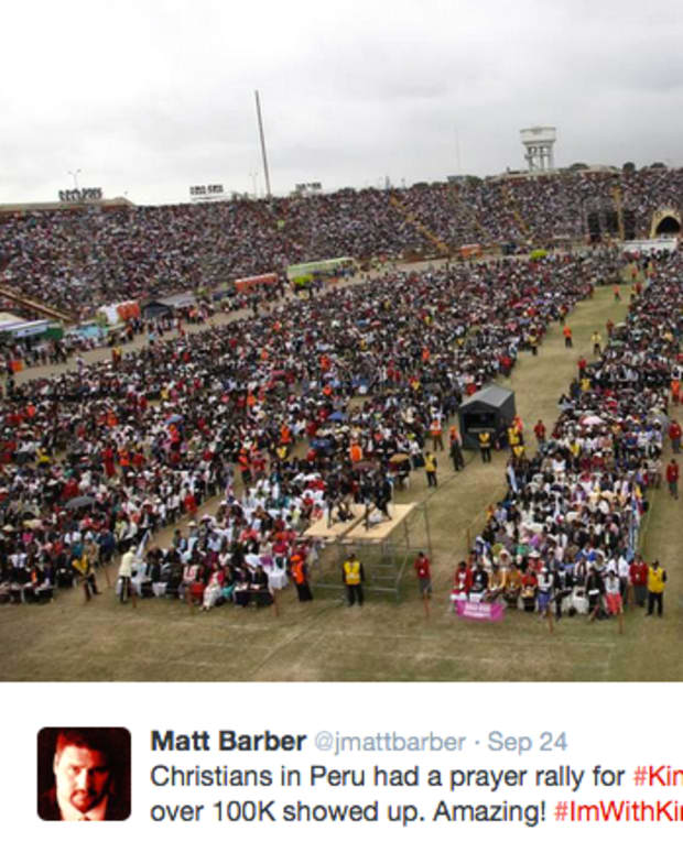 Kim Davis Prayer Rally In Peru From Twitter.