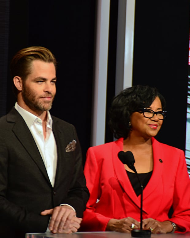 Chris Pine and Cheryl Boone Isaacs