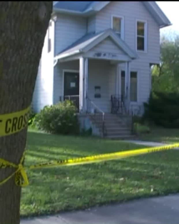 House in Elkhorn, Wisconsin, where two men were found dead