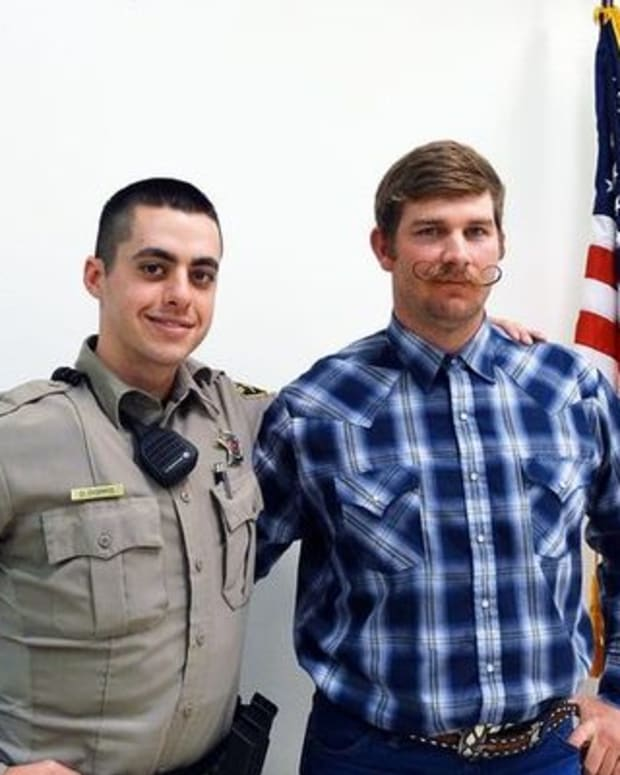 Deputy Dorris (left) and Marine Scott Perkins (right)