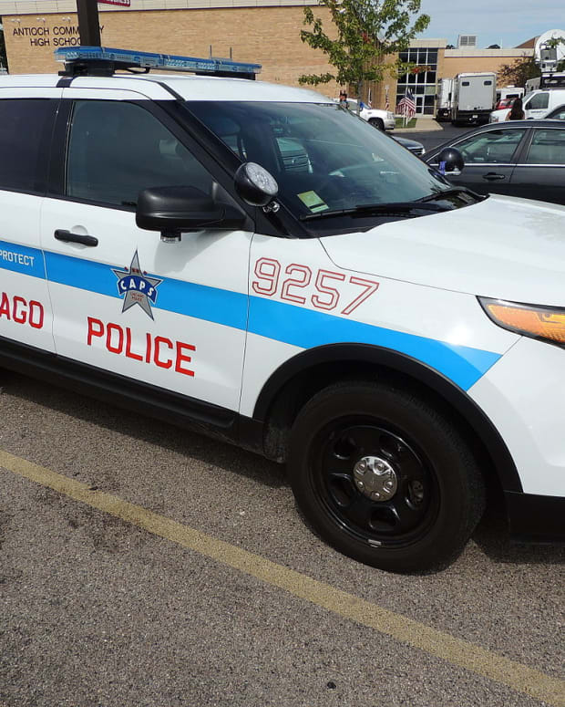 A Chicago Police Department patrol vehicle