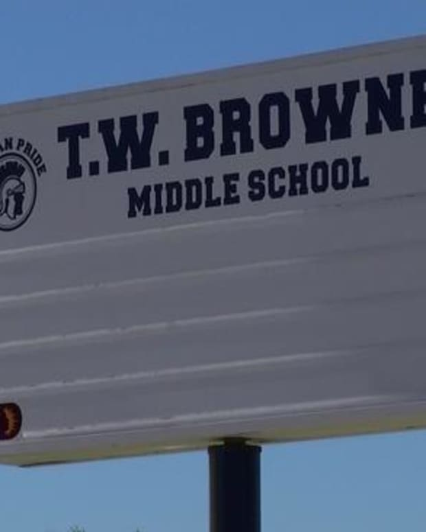 T.W. Browne Middle School in Dallas, Texas
