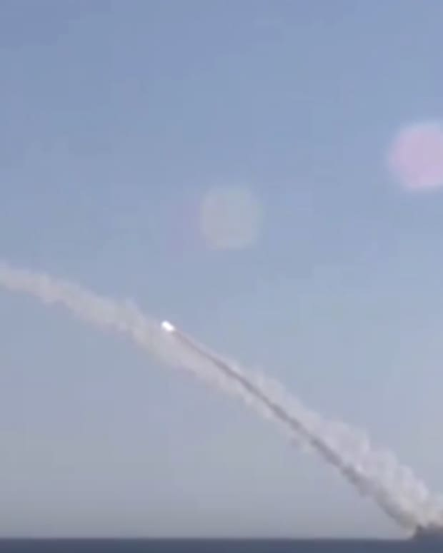 Russian Submarine Fires Missiles