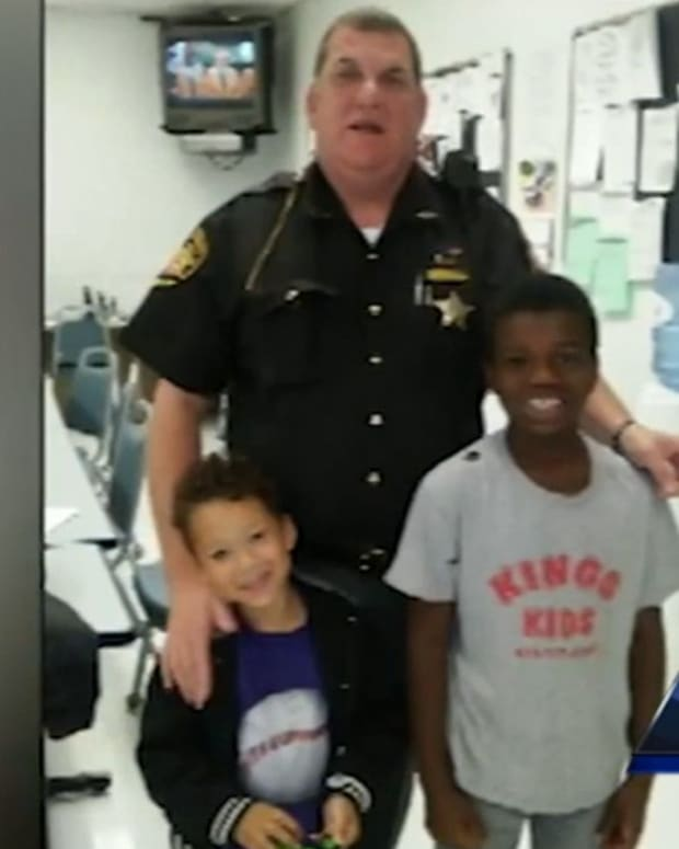 Deputy Brian Bussell and Tierra Gray's sons