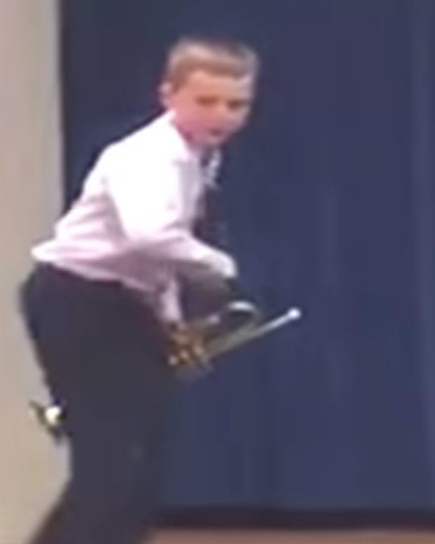 Child Trumpeter