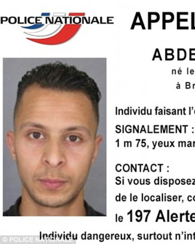 Photo of wanted man Salah Abdeslam, brother of Ibrahim Abdeslam