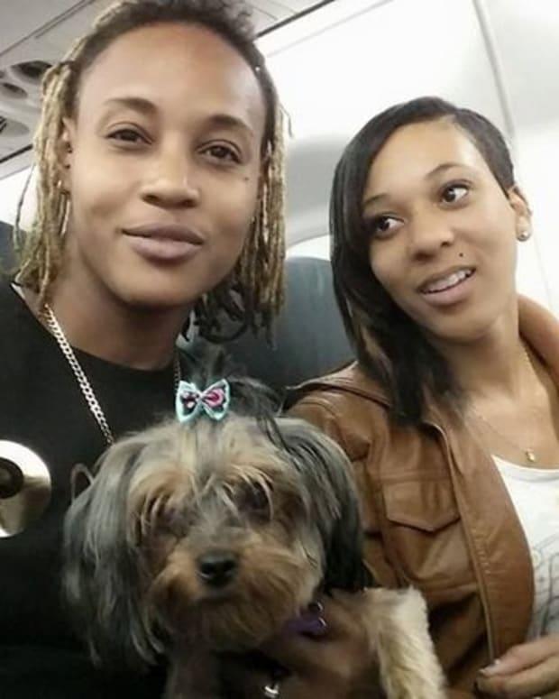 Monique Coverson and Larissa.