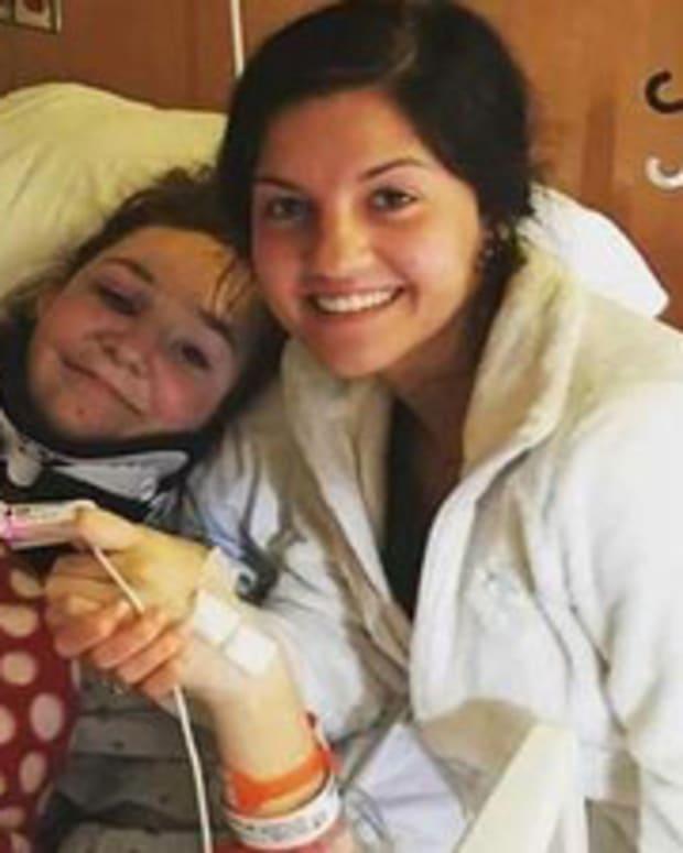 Hannah Smith in the hospital after car crash