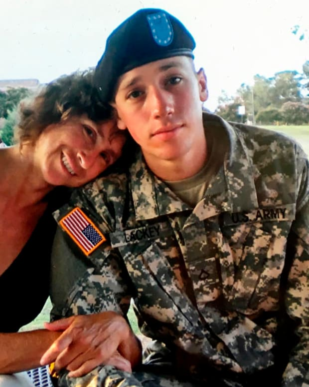 tyler lackey with his mother liz frank