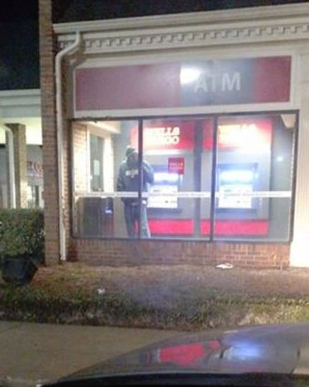 Picture of Wells Fargo ATM, from Antione Pugh's Facebook post